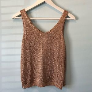 Top shop rose gold top size 8